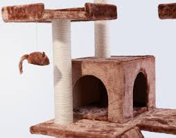 Cat Trees For Big Cats Frisco 72 Inch Cat Tree Large Brown Chewy Com