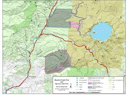 Crater Lake Oregon Map by Twin Fires Raging Near Crater Lake Send Embers Flying Up To A Mile