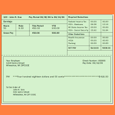 8 pay stub template download samples of paystubs
