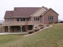 one house plans with walkout basement walk out basement farm house basements house and