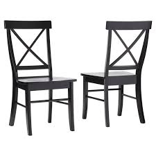 Dining Wood Chairs August Grove Sawyer Cross Back Solid Wood Dining Chair Reviews