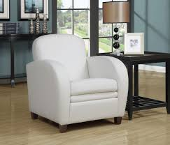 White Leather Arm Chair Monarch Specialties White Leather Look Arm Chair Millionairess