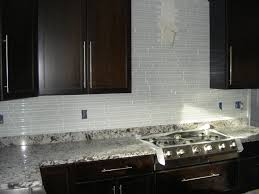White Glass Backsplash by White Glass Backsplash In Various Size To Create Dynamic Wall View