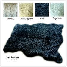 plush mongolian faux fur rug shag throw designer room carpet