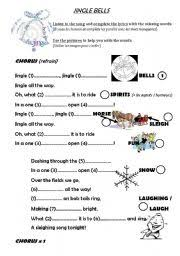 english teaching worksheets jingle bells