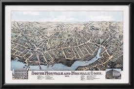 Norwalk Ohio Map by South Norwalk U0026 Norwalk Ct 1875 Vintage City Maps Restored City