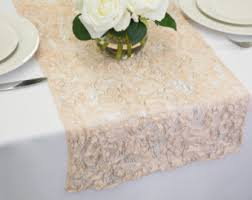 lace table runners wedding blush lace etsy
