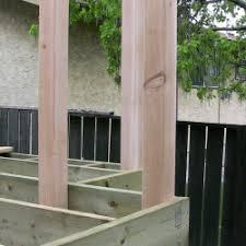 4x4 cedar deck posts installation step by step deck building part 6