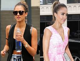 jessica alba u0027s overnight hair transformation from sporty bun to