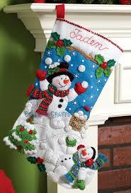 snowman 18 bucilla felt kit 86301 fth