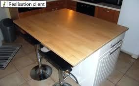 faire une cuisine sur mesure plan de travail pour cuisine pas cher plan de travail ilot central