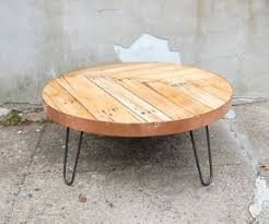 round hairpin coffee table round copper coffee table open travel