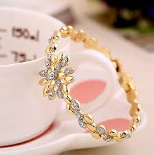 bracelet style images 2018 new brand luxury 18k gold plated wheat style rose gold jpg