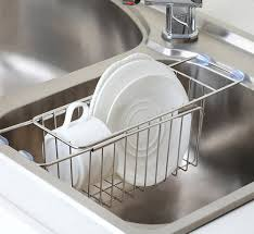 Kitchen Sink Scrubber Holder by Amazon Com Kitchen Sink Caddy Yoheox Adjustable Stainless Steel
