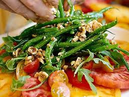 cuisine haricot vert heirloom tomato and haricot vert salad recipe myrecipes