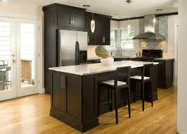 pictures of dark wood kitchen cabinets polished white cultured