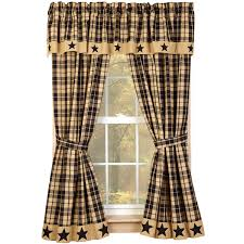Country Curtains Sturbridge Plaid by Farmhouse Star Lined Curtain Panels Burgundy Or Black And Tan 63