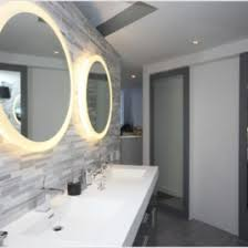 lighted bathroom wall mirror digihome lighted wall mirror in