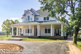 country farmhouse with wraparound porch 16805wg architectural