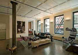 Loft Modern Modern Soho Loft With Industrial Touches And Bold Colors