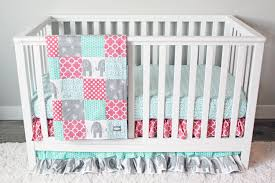 Coral Nursery Bedding Sets by Coral Elephant Crib Bedding Creative Ideas Of Baby Cribs