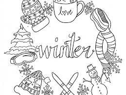 cute winter coloring pages printable winter coloring pages for kids free boots to print clothes
