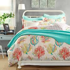 bedding coral and blue bedding tiffany blue and coral and blue