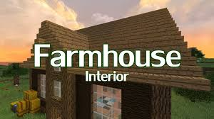 minecraft farmhouse interior design youtube
