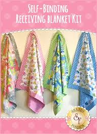 self binding receiving blanket kit video project