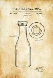 milk bottle patent print vintage bottle bottle collectibles