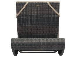 Zuo Outdoor Furniture by Zuo Outdoor Pamelon Beach Aluminum Wicker Beach Chaise Lounge In