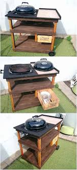 how to build a weber grill table weber charcoal grill side table inspirational weber grillplatte diy