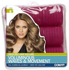 amazon com conair mega self holding rollers 9 count hair
