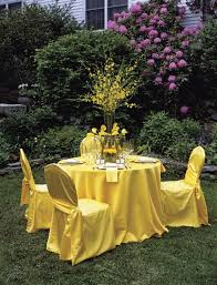 yellow chair covers bright yellow lamour