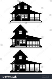 silhouettes modern small houses vector stock vector 399453205