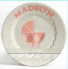 it s your special day plate vintage it s a girl personalized melamine dinnerware plate
