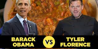 barack obama vs tyler florence whose chili is better