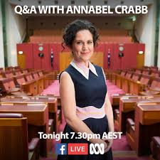 annabel crabb home facebook image may contain 1 person smiling standing and sitting