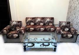 Sofa Set Buy Online India Buy Eucalypto Chenille Brown Sofa Slipcover Set With 6 Arms Cover