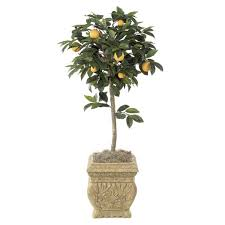 4 5 foot artificial orange tree potted overstock w 2330