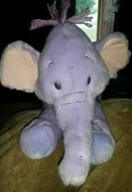 heffalump disney plush small lumpy purple elephant winnie pooh