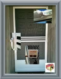 Door Retractable Screen Doors With White Unique Handle