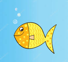 gold carton fish u2014 stock vector beeandglow 3297840