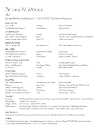 Best Acting Resume Font by Brittany N Williams Nyc Aea Actress U0026 Singer