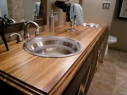 bathroom counter top ideas bathroom countertop material options hgtv