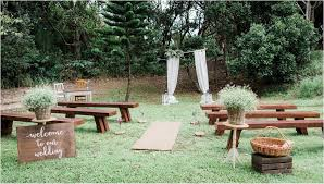 ceremony set up at the belongil wedding venue byron bay