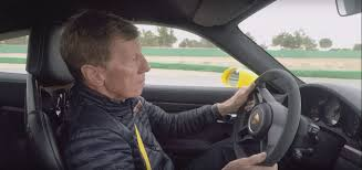 walter rohrl drifts 2018 porsche 911 gt3 in german humor gig