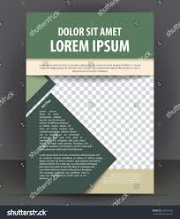 magazine flyer brochure cover layout design stock vector 295069196