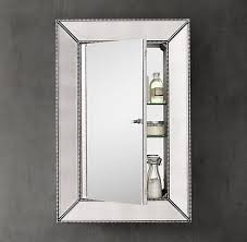 beveled glass medicine cabinet recessed restoration hardware beaded venetian recessed medicine cabinet in