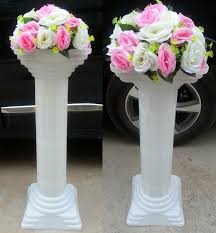 Wholesale Wedding Decor Wedding Road Lead Column Wedding Decoration Plastic Roman Pillars